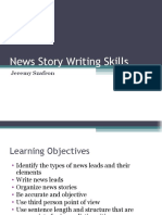Learn News Writing Competences With Jeremy Szafron