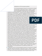 A Study Oncustomer Satisfaction of Life Insurance Policies