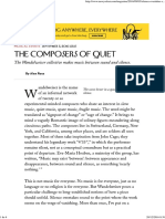 Wandelweiser the Composers of Quiet - The New Yorker
