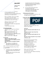 Hymn Sheet - 19th Feb 2017