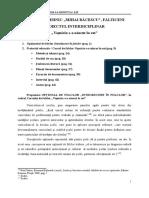 Proiect interdiciplinar CTMB