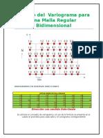 Cálculo Del Variograma Para Una Malla Regular Bidimensional(MAMSIS)