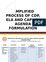 CDP Process Matrix
