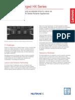 Lenovo HX Series Nutanix Datasheet