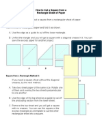 How to Cut a Square from a.docx