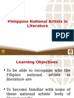 3 Philippine National Artists in Literature