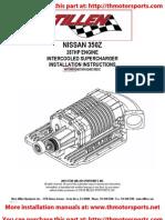 Stillen 350Z Stage 2 Supercharger Installation Instructions