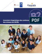Inventaire Linguistique Des Contenus Clés Des Niveaux CECR
