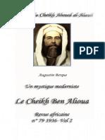 Un Mystique Moderniste Le Cheikh Ben Alioua Revue Africaine n 79 1936 Vol 2