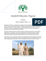 Interfaith Education Program Proposal