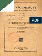 (1930) Địa Dư Các Tỉnh Bắc Kỳ - Phạm Văn Thư