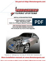 Turbonetics 350Z Turbo Kit Installation Manual 15134-t