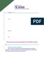 Pattern of QP and Marking Scheme 2016