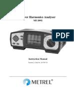 Manuals Pha mi 2092 analizador de redes