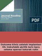 Outcome Klinis Setelah Implantasi IOL Hidrofobik Akrilik Toric