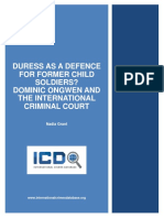 Duress Child Soldiers Ongwen and the ICC