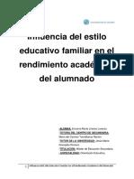 Estilo Educativo Familiar y Rendimiento Escolar