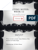Meeting Notes Week 12