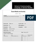 Social Media Course Outline_Summer 2010