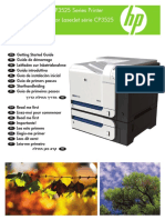 Manual de Impresora HP Color LaserJet CP3525