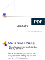 Active Learning in the Classroom Workshop
