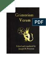 Grimorium Verum, Completo, Editado e Traduzido Do Original de Joseph H. Peterson