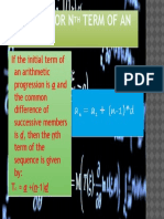 Formula for Nth Term of an AP