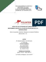 Informe de Pasantias, Yuri Salcedo.
