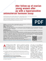 Toward a Better Follow Up of Ovarian Recovery in Young Women After Chemotherapy With a Hypersensitive Antim Llerian Hormone Assay 2014 Fertility and S
