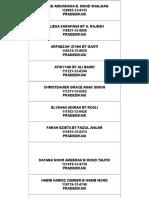 Senarai Nama Pra Dedikasi 2