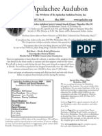 May 2009 Apalachee Audubon Society Newsletter