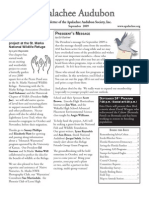 Sept 2009 Apalachee Audubon Society Newsletter