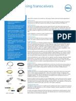 Dell Networking Optics Spec Sheet