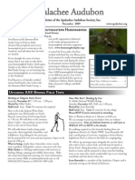 NOV 2009 Apalachee Audubon Society Newsletter
