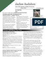 JAN 2010 Apalachee Audubon Society Newsletter