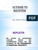 Actions to Recover