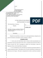 Federal Government Az Complaint for Law Suit