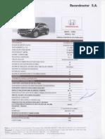 Ficha de Especificaciones HONDA CR-V