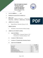 Huron Township Board of Trustees Feb. 22, 2017