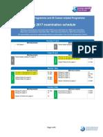 May 2017 Examination Schedule