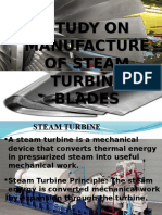 Manufacturing Process of steam turbine blades