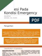 Anestesi Pada Kondisi Emergency