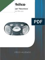 (2) Philco Pb120 Mp3 Usb Ver A