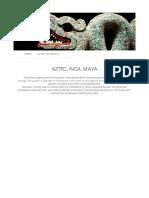 Aztec, Inca, Maya _ HSTRY for Education