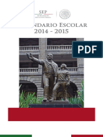 Folleto Explicativo 2014-2015 CALENDARIO ESCOLAR