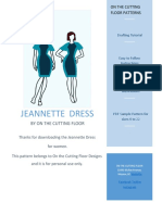 Jeannette Dress Pattern- Sewing and Drafting Tutorial