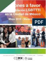Acciones a Favor de La Poblacion Lgbttti en La Cdmx