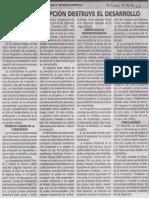 Cómo la corrupción destruye el desarrollo, Gonzalo Llosa