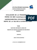 Evaluacion de Lapesqueria Delpepino de Mar