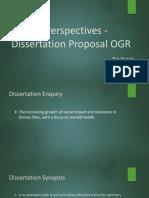 Critical Perspectives -Dissertation Ogr
